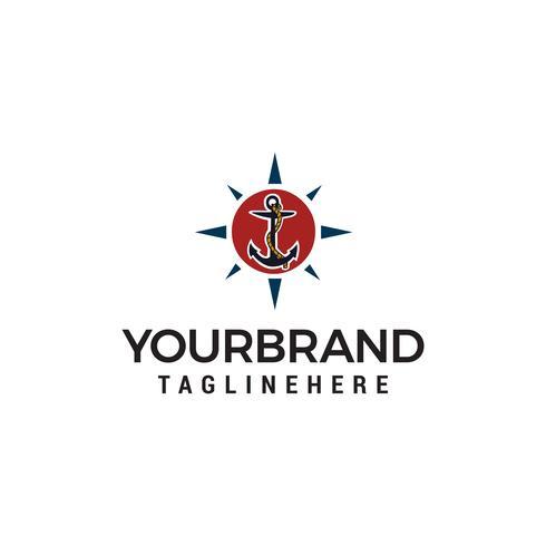 Verankerung Logo Design Konzept Vorlage Vektor