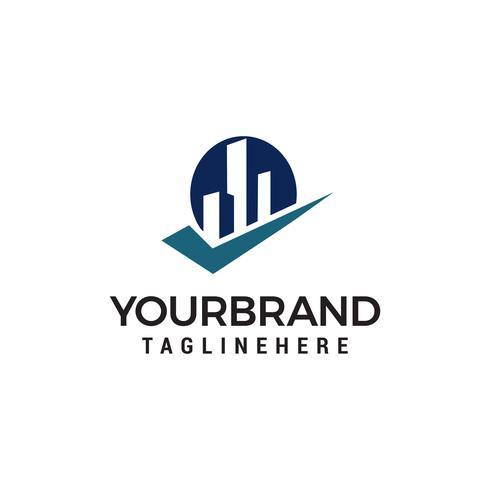 byggmarkering Logo Malldesign vektor