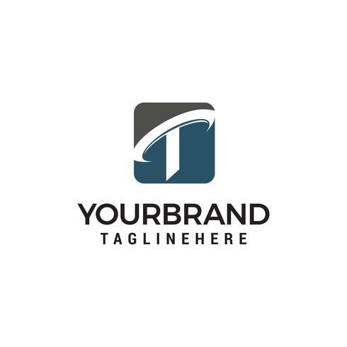 Buchstabe t Firma Logo Design Konzept Vorlage Vektor