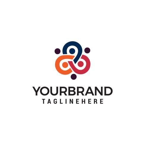 affärsmän community logo design koncept mall vektor