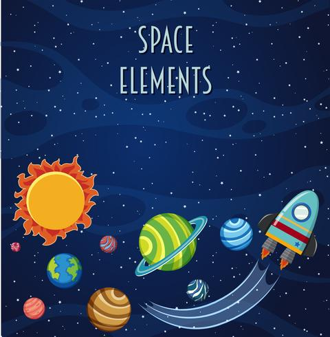 Eine Space-Element-Vorlage vektor
