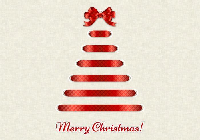Dekorativer Band-frohe Weihnacht-Vektor-Hintergrund vektor