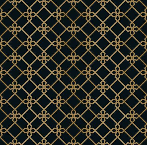elegante Linie Ornament Muster nahtlose Muster für Hintergrund, w vektor