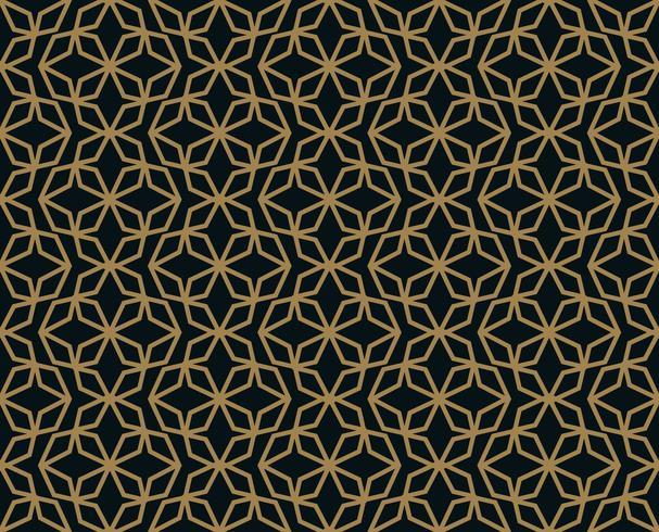 Nahtloses Muster mit Linie Verzierung. Abstraktes modernes geometrisches v vektor