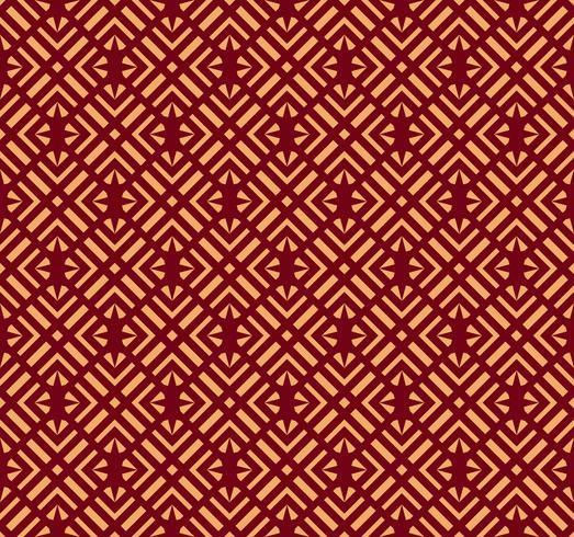 Nahtlose vektorverzierung. Modernes stilvolles geometrisches lineares Muster mit goldener Farbe vektor