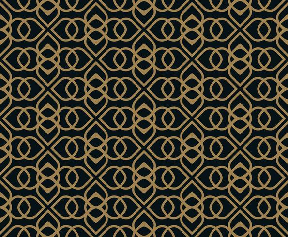 Sömlöst mönster. Grafiska linjer prydnad. Blomstrande backgro vektor