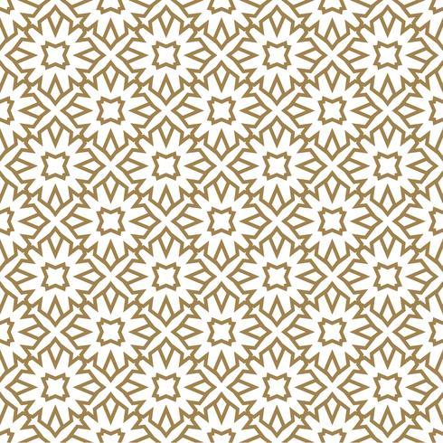 Seamless mönster av korsande tunna guld linjer på svart bakgrund. Abstrakt sömlös prydnad. vektor
