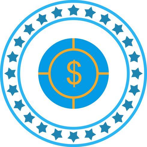 Vektor-Dollar-Ziel-Symbol vektor