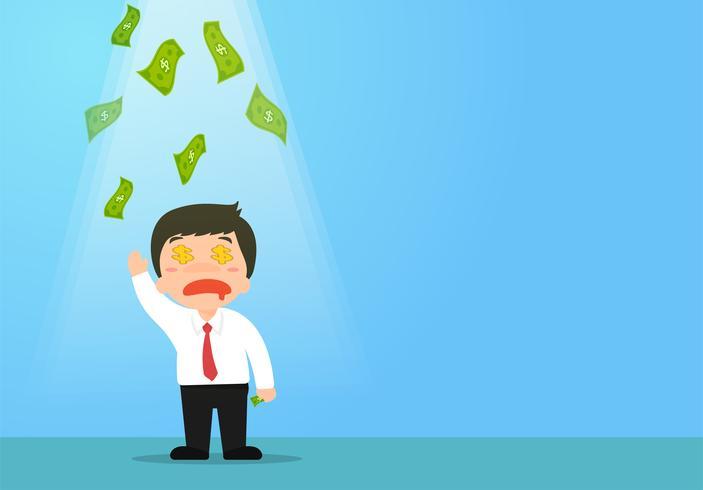 Geschäftsleute, die finanzielle Möglichkeiten erhalten, oder Angestellte, die Prämien erhalten vektor