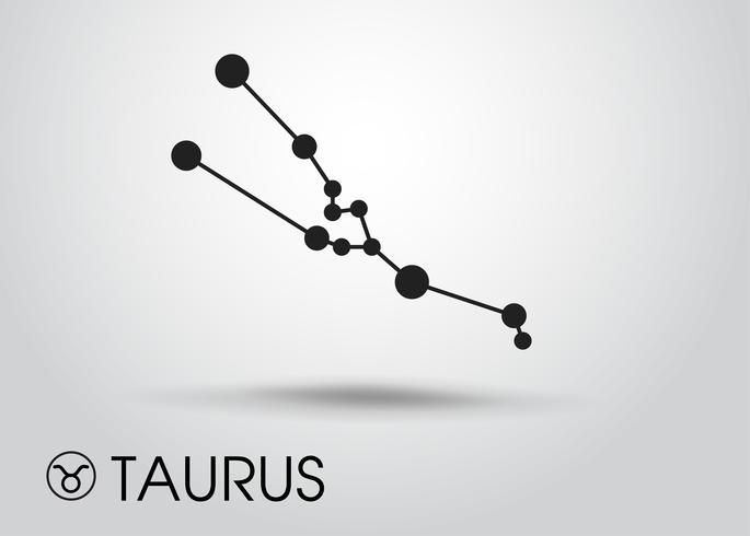 Tierkreiszeichen auf grauem Hintergrund. vektor