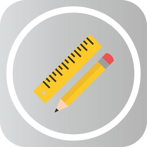 Vektor-Bleistift und Lineal-Symbol vektor
