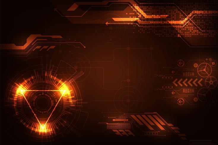 Vektorhintergrund im Konzept der Technologie. vektor
