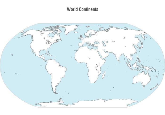 Världs kontinenter karta vektor