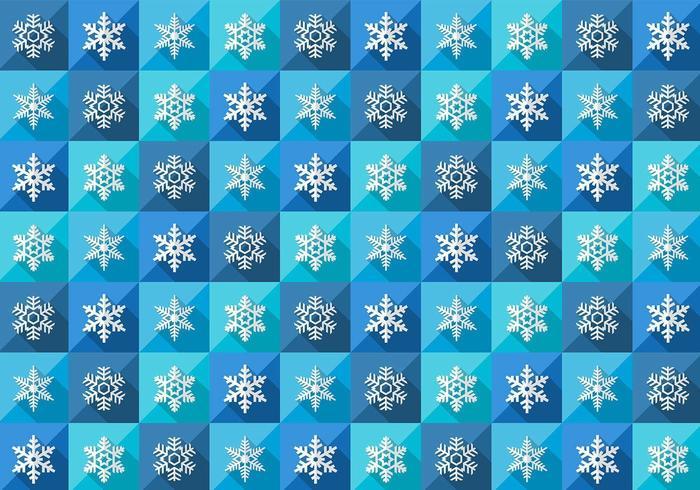 Sömlös vinter snöflinga mönster vektor
