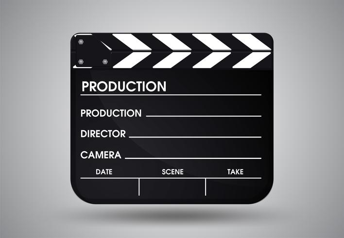 PrintSlate av regissörsfilm. Illustration Vektor EPS10.
