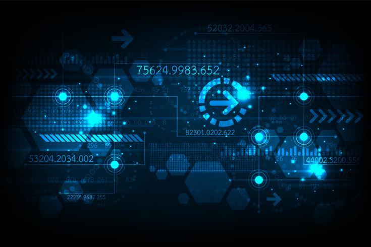 Teknisk bakgrund i begreppet digital. vektor