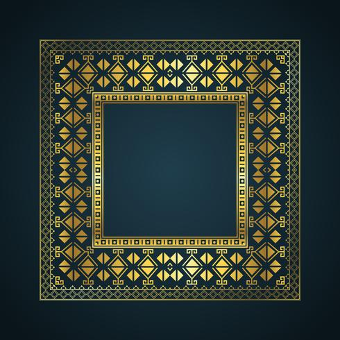 Aztec stil gräns bakgrund vektor