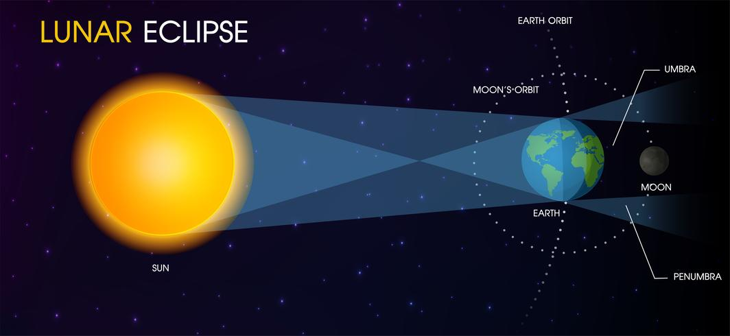 Månens månförmörkelse. vektor