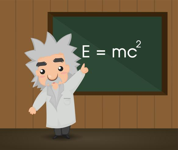 Albert Einstein. Illustration vektor