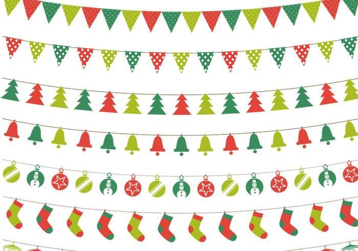 Christmas bunting vektor pack