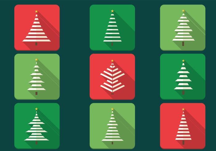 Abstrakter Weihnachtsbaum-Vektor-Ikonen-Satz vektor