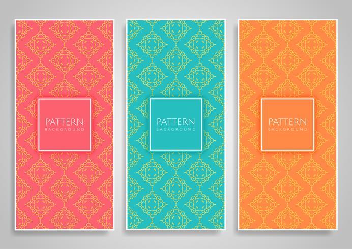 Samling av dekorativa bannerdesigner vektor