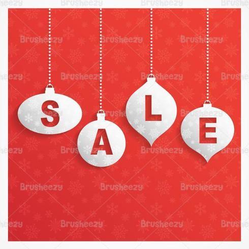 Retro Weihnachten Verkauf Vektor