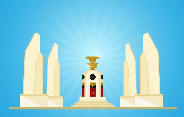 mocracy Monument Representanter för kommande val i Thailand vektor