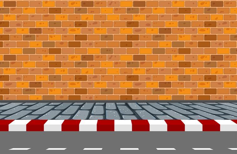 Eine Straße Hintergrundszene vektor