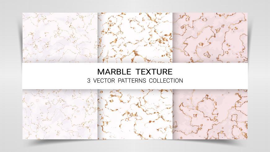 Bakgrund och texturer av Marmor Premium Set Patterns Collection Template. vektor