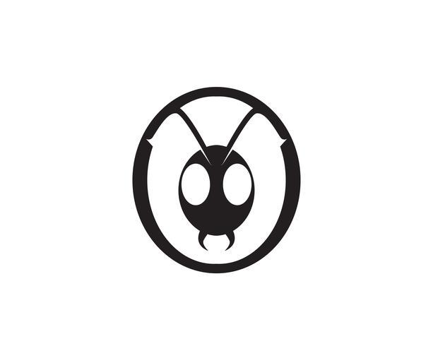 Ant Logo mall vektor illustration