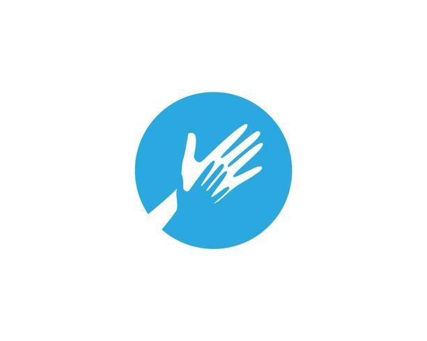 Hand Care Logo Mall vektor ikon