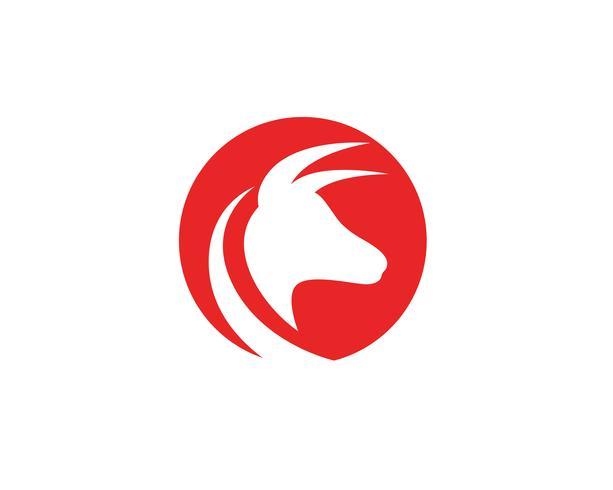 Bull horn logotyp och symboler mall ikoner vektor
