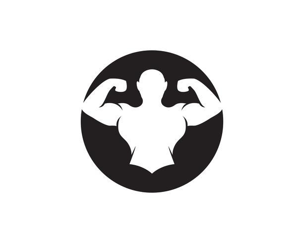Vektor objekt och ikoner för sport etikett, gym märke, Fitness Logo Design