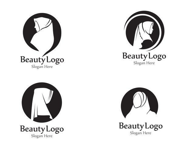 Hijab Vektor schwarz Beauty-Logo