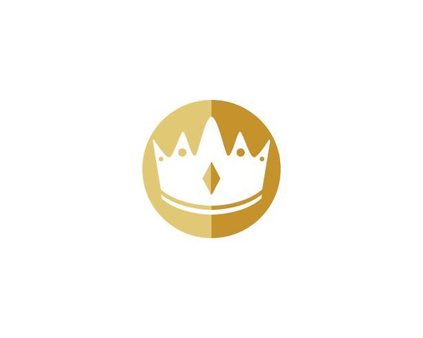 Krone Logo Template-Vektor-Illustration vektor