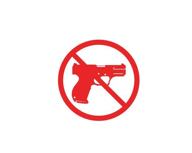 Pistole Vektor Symbolvorlagen