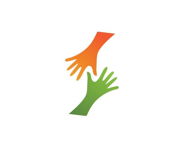 Hand rütteln Symbollogo und Symbolvektor vektor