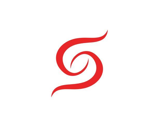 S-logotyp och symbolmall vektor