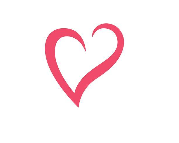 Kärlek hjärta logotyp och mall vektor