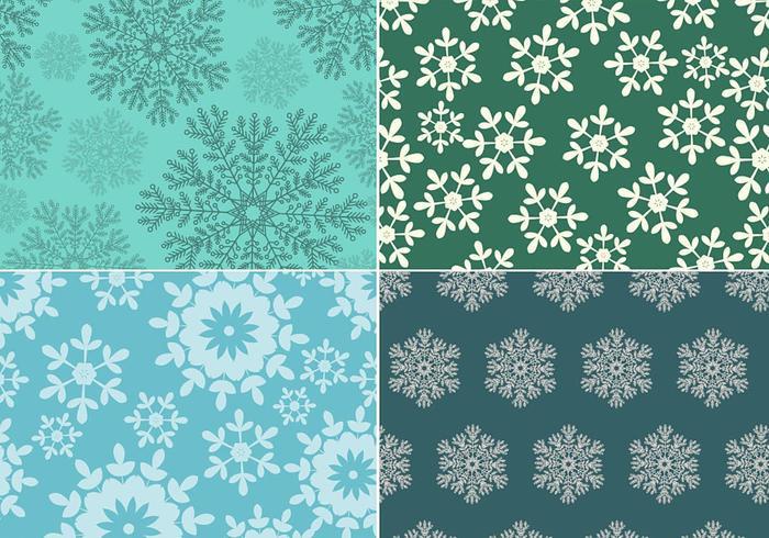 Seamless snowflake pattern vector pack