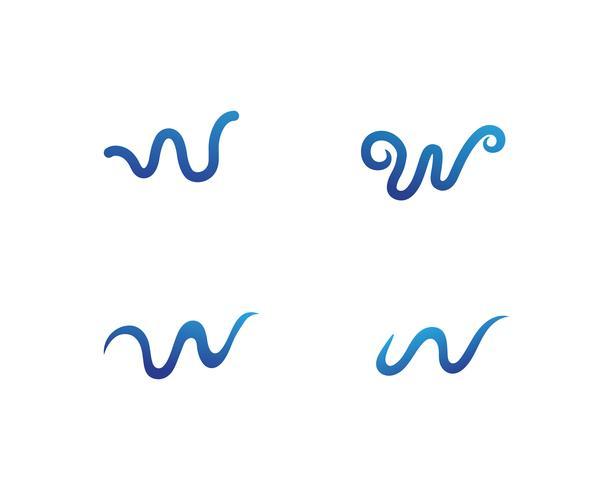 W bokstäver företagslogotyp och symboler vektor
