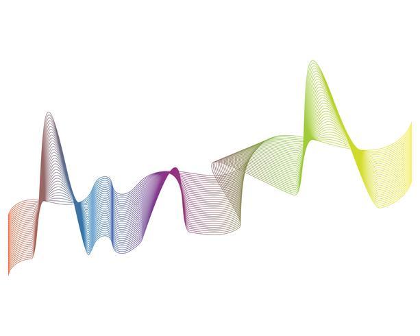 Våglinjeillustrationsvektorer vektor