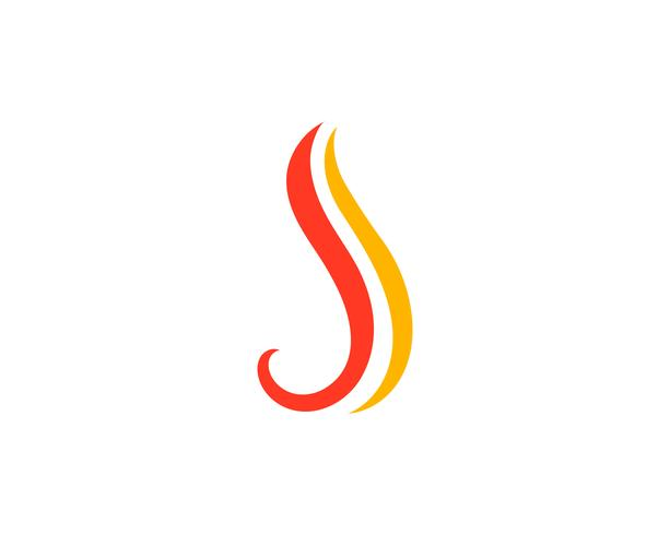 Feuer Flamme Logo Template Vektor-Symbol Öl, Gas und Energie-Logo vektor