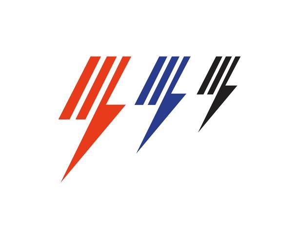 Flash Thunderbolt Logo Vorlage Vektor