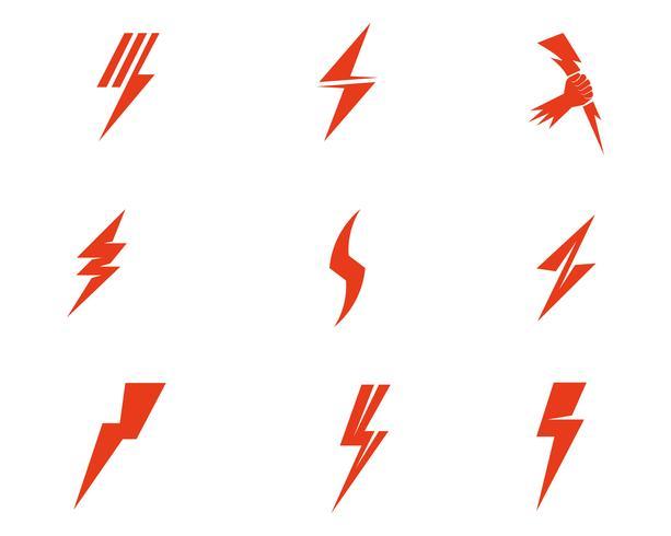 Flash thunderbolt logo mall vektor