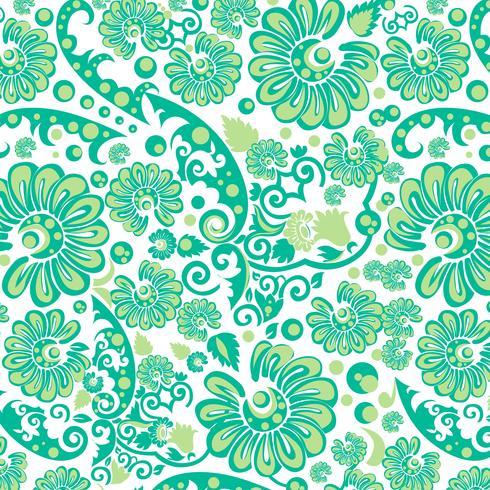 Nahtlose grüne Blumentapete vektor