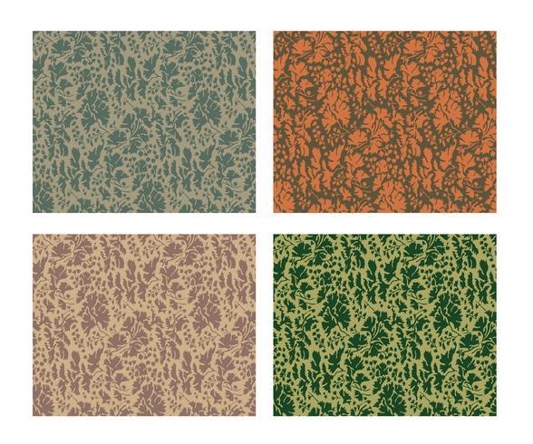 kamouflage mönster design med olika färg vektor