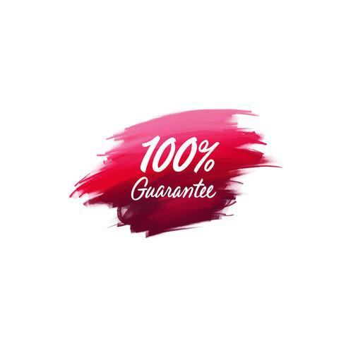 Handgeschriebene Beschriftungspinselphrase 100-Prozent-Garantie mit Aquarellhintergrund vektor