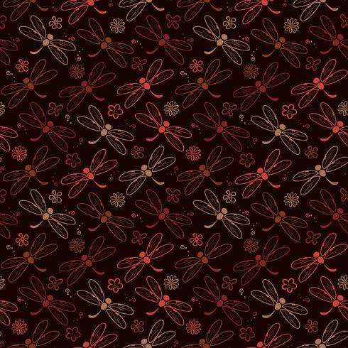 slända mönster bakgrund med brun färg vektor